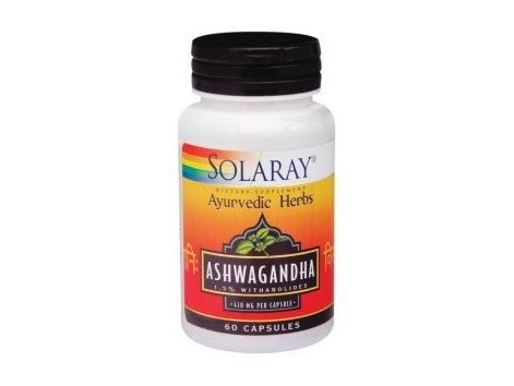 Ashwagandha 470mg Solaray. Ayurveda. 60 capsules. Solaray