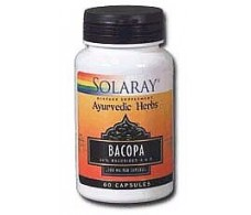 Solaray Bacopa 100mg. 60 capsulas. Ayurveda Solaray