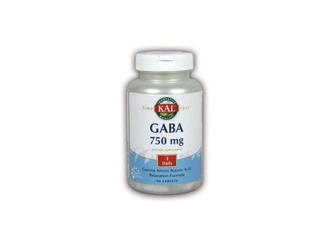 KAL GABA 750mg. KAL. 90 comprimidos