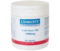 Lamberts Aceite de Higado de Bacalao 1000mg. 180 capsulas.