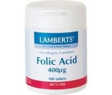 Lamberts Acido Folico 400mcg. 100 comprimidos. Lamberts