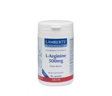 Lamberts L-Arginina 1000mg. 90 capsulas. Lamberts