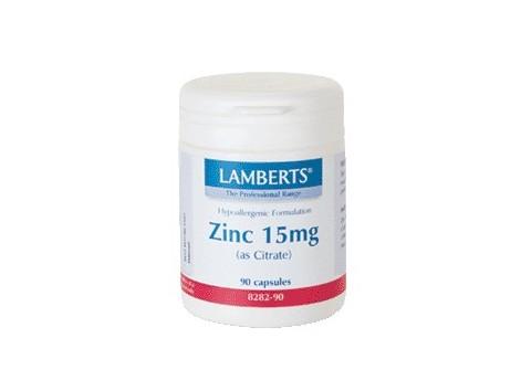 Lamberts Zinc 15 mg (as Citrate) 90 Tabs