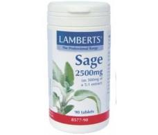 Lamberts Sage 2500mg. 90 tablets. Lamberts