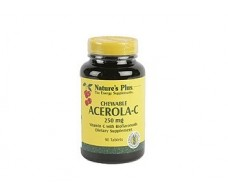 Nature's Plus Acerola C. Vitamina C 250mg. 90 comprimidos mastic