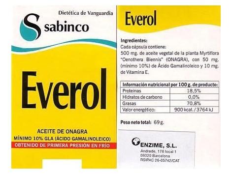 Sabinco Everol 250 capsulas. Sabinco