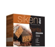 Siken Diet barritas de chocolate. 5 unidades