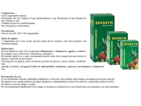 Envozym complemento alimenticio 200 tablets. Envozym