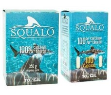 Tongil squalo 100% of shark cartilage 750mg. 100 capsules