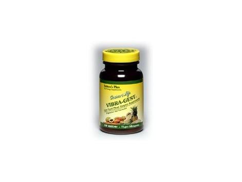 Nature's Plus 90 Vegicaps Vibra-Gest. Digestive Aid. Natures P