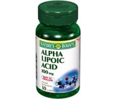 Nature's Bounty alpha lipoic acid 100mg. 30 capsules