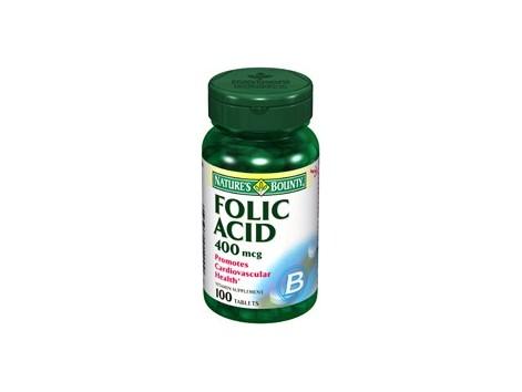 Nature's Bounty 400mg folic acid. 100 tablets