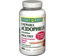 Nature´s Bounty Acidophilus con bífidos 100 comprimidos masticab