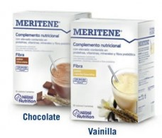 Fiber MERITENE 14 envelopes. Chocolate flavor