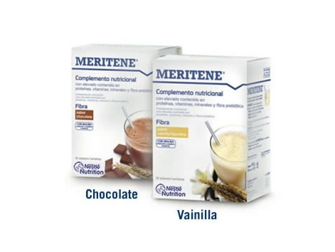Fiber MERITENE 14 envelopes. Chocolate flavor