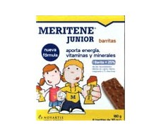 Meritene Junior 36 barritas de chocolate y cereales