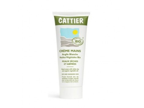 Cattier Hand Cream 75ml with white clay
