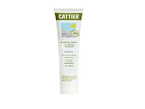 Cattier facial scrub the white clay 100ml.