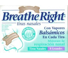 Tiras nasales Breathe Right balsamicas talla L grandes. 8 unidad