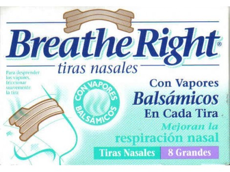 Breathe Right nasal strips balsamic size L. 8 units