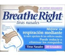 Tiras nasales Breathe Right clásicas talla M medianas. 30 unidad