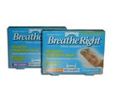 Tiras nasales Breathe Right Transparentes talla M medianas. 10 u