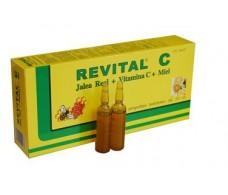 Revital C. Jalea real + vitamina C + Miel. 20 ampollas