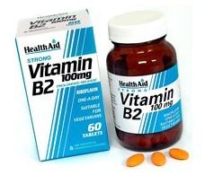 Health Aid Vitamin B2 (Riboflavin) 100mg - Prolonged Release Tab