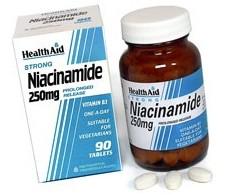 Health Aid Vitamin B3 (Niacinamide) 250mg - Prolonged Release Ta