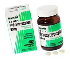 Health Aid 5HTP 50mg. Triptofano 60 comprimidos liberación prolo