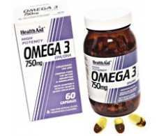 Health Aid Omega 3 750mg. 60 capsules