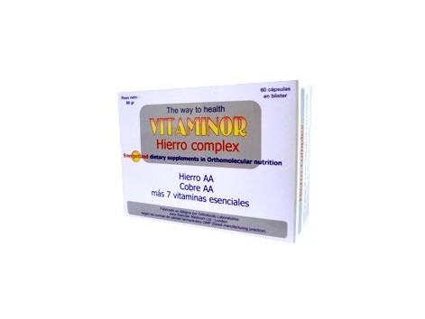 Vitaminor Hierro Complex 60 capsules