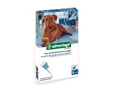 Advantage 400 for dogs 25-40 kg. 4 pipettes