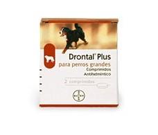 Drontal Plus para perros grandes +35kg. 2 comprimidos