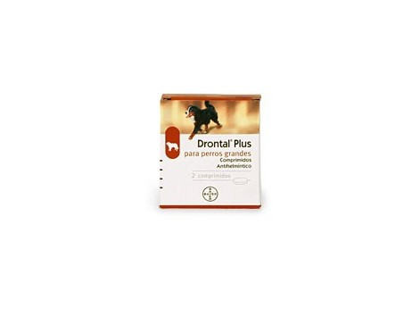 Drontal Plus for large dogs +35 kg. 2 tablets