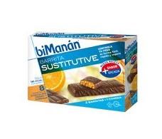 Bimanan chocolate bars and orange. 8 units