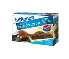 Bimanan black chocolate bars. 8 units
