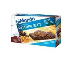 Bimanan barritas crujientes Komplett chocolate. 8 unidades