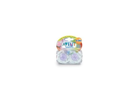 Avent Translucent Soothers 6-18 months 2 units