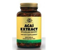 Solgar Acaí Brazilian Berry Extract 60 soft capsules.