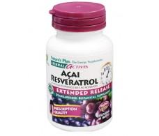 Nature's Plus Açai Resveratrol 30 comprimidos.