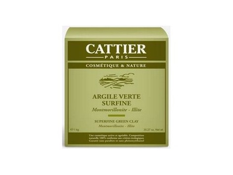 Cattier Super Green clay 1 kg.