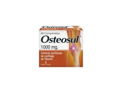 Natysal Osteosul (shark cartilage) 60 tablets.