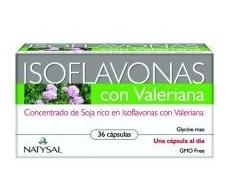 Natysal Valeriana Isoflavones with 36 capsules.