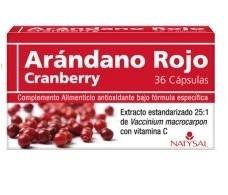 Natysal Arandano Rojo 36 cápsulas.