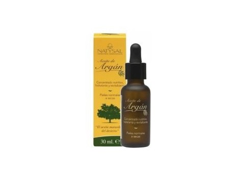Natysal Argan Oils (Moisturizing, firming, regenerating) 30 ml.