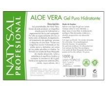 Natysal Aloe Vera Gel Puro hidratante 1000ml.