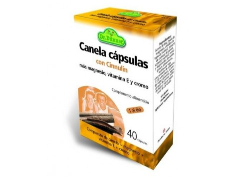 Canela con Cinnulin (Nivel de azúcar) 40 cápsulas. Dr Dunner.