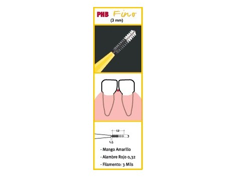 Fine PHB interdental brushes 6 pcs.
