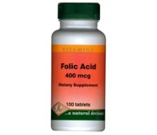 Pal Folic Acid (Vitamin B9 Folic Acid 400mg) 100 tablets.